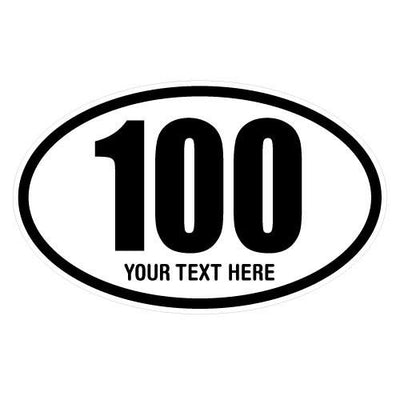 Personalized 100 Miles Oval Decal | Custom / Personalized | DecalVenue.com