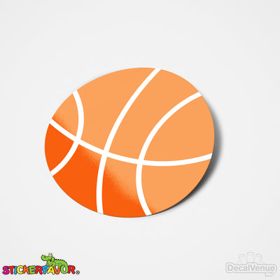 StickerFavor® Basketball 001 Vinyl Decal Sticker Favors (Qty 103 - assorted sizes) | StickerFavor® | DecalVenue.com