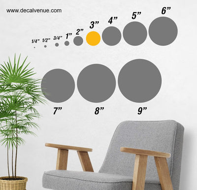 3 inch Polka Dot Circles Wall Decals | Polka Dot Circles | DecalVenue.com