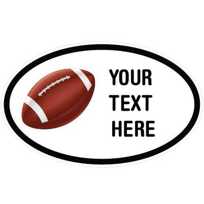 Personalized Football Oval Decal | Custom / Personalized | DecalVenue.com