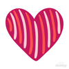 Heart Candy Stripe Decals | Shapes & Patterns | DecalVenue.com