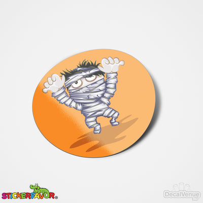StickerFavor® Mummy Halloween 001 Vinyl Decal Sticker Favors (Qty 103 - assorted sizes) | StickerFavor® | DecalVenue.com