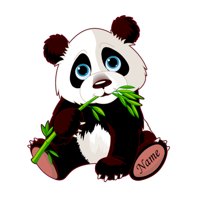 Personalized Cute Panda Decal [001] | Custom / Personalized | DecalVenue.com