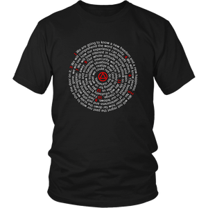 The 12 Promises of AA Spiral - Unisex T-Shirt-12 Step Tees