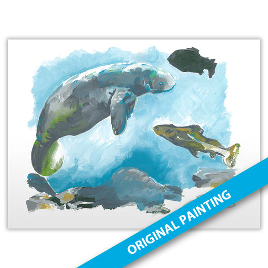 River Exhibit (Manatee) — ORIGINAL PAINTING