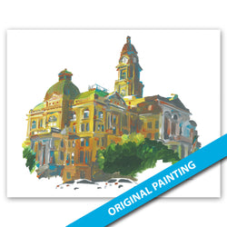 Tarrant County Court, Fort Worth — ORIGINAL PAINTING
