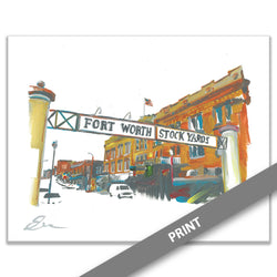 Stock Yards Sign, Fort Worth — PRINT