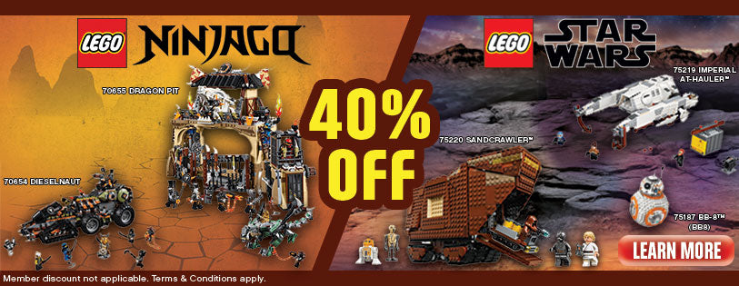 LEGO NINJAGO and LEGO Star Wars Promotion July 2019