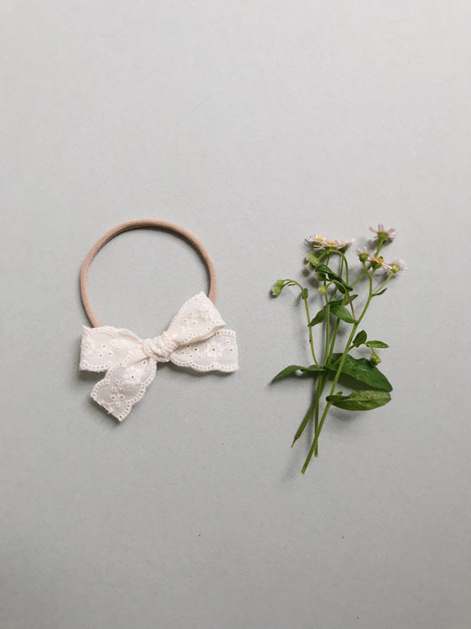 Lace // Ivory Floral - Headband or Clip