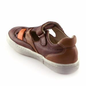 Brown Combo Leather Boys Sandal ( SS-8005)