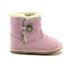 Pink leather snug booties (SS-7080)