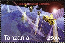 Calipso Cloudsat Satellites - Philately Tanzania stamps