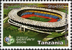 2006 FIFA World Cup Germany - Philately Tanzania stamps