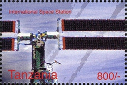 Space Anniversaries - International Space Station - Philately Tanzania stamps