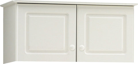 White 2 Door Wardrobe Top Box