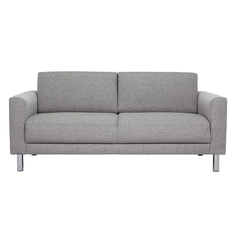 Cleveland 2 Seater Fabric Sofa - Light Grey