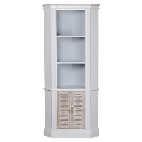 Liberty Collection Corner Display Unit With 3 Shelves & Louvred Door