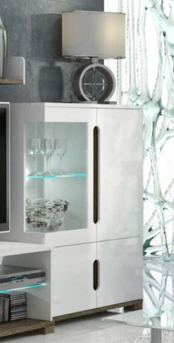 Argo White Gloss Low Display Unit