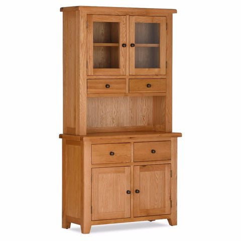 Orland Oak 2 Door 2 Drawer Sideboard Plus Hutch – Assembled