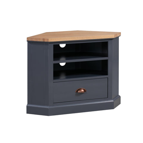 Richmond Dark 1 Drawer Corner TV Unit