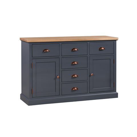 Richmond Dark 2 Door 6 Drawer Sideboard