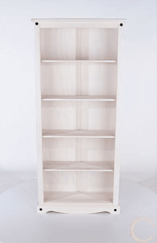 Corona White Washed Tall Bookcase