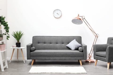 Boston Fabric Sofa Bed - Grey & Charcoal