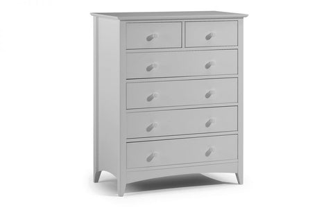 Cameo Dove Grey 4+2 Chest of Drawers