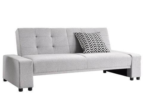 Chicago Chic Fabric Sofa Bed - Light Grey