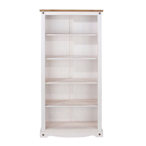 Corona Premium White Washed Tall Bookcase