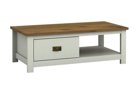 Farmhouse Painted 1 Drawer Coffee Table - White or Grey