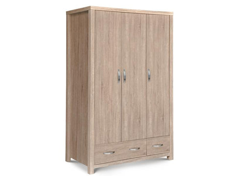 Hamilton Sonoma Oak 3 Door Combination Wardrobe