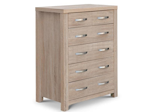 Hamilton Sonoma Oak 4+2 Chest Of Drawers