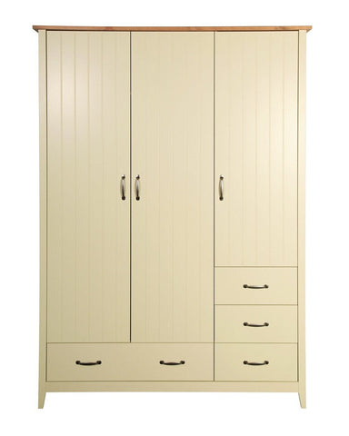 Norfolk Cream 3 Door 4 Drawers Wardrobe