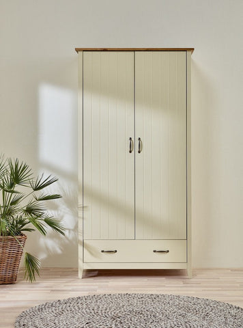 Norfolk Cream 2 Door 1 Drawer Wardrobe