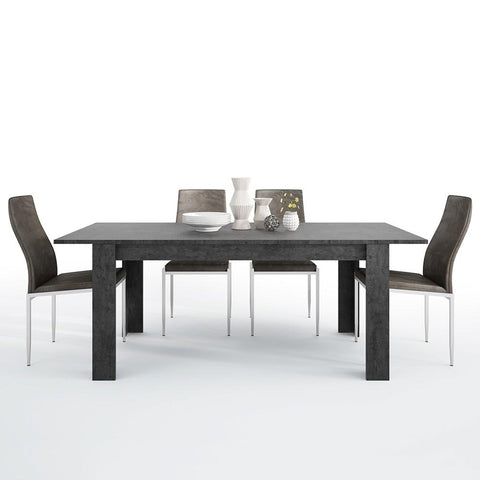 Zingaro Extending Dining Table with 4 Milan High Back Chair