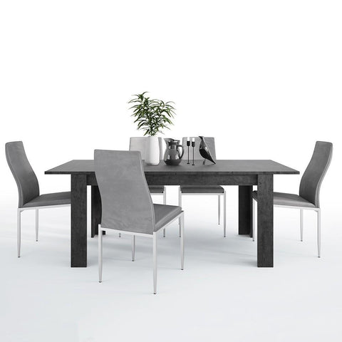 Zingaro Extending Dining Table with 6 Milan High Back Chair
