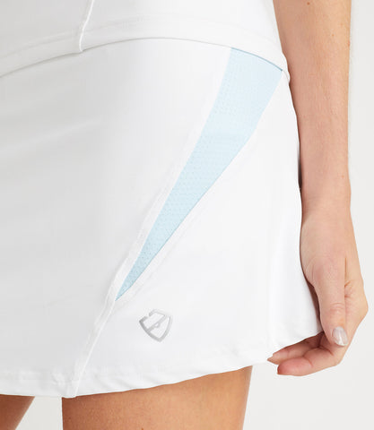 Monique Technical Skort White/Light Blue