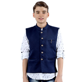 MashUp dapper Nehru jacket and printed kurta shirt. - KRAZYLA