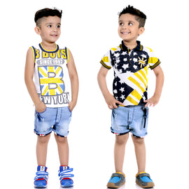 Bad Boys Stars & Stripes Yellow Combo Set - KRAZYLA