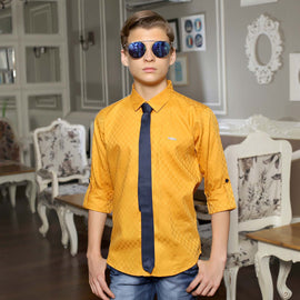 MashUp Mustard Satin Club wear Shirt - KRAZYLA