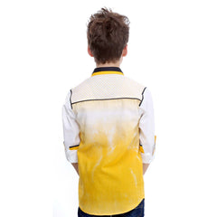 MashUp Yellow Ombre Shirt - KRAZYLA