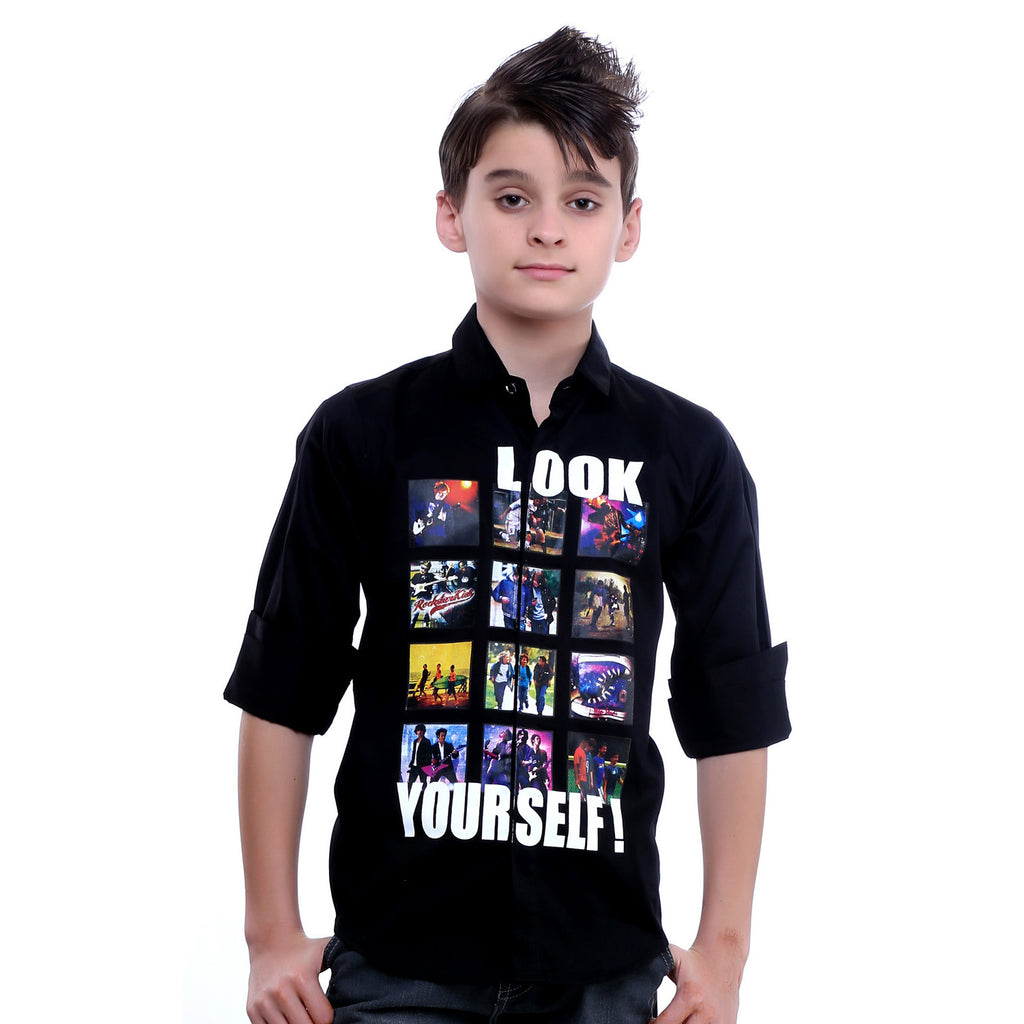 MashUp Photomania Black Shirt - KRAZYLA
