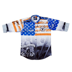 MashUp Stars & Stripes Printed Party Shirt - KRAZYLA