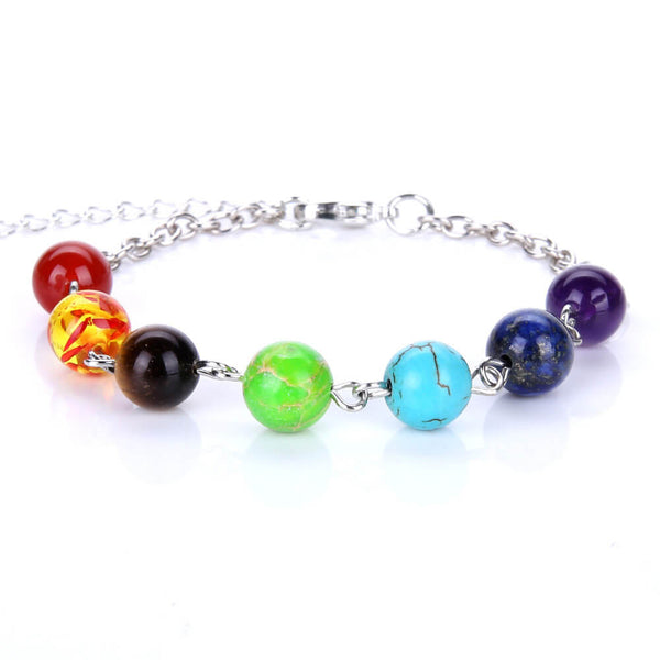 7 Chakra Healing Balance Beads Bracelet For Women
