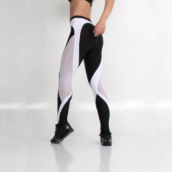 Women Double Black Heart Pattern Hip Sporting Leggings