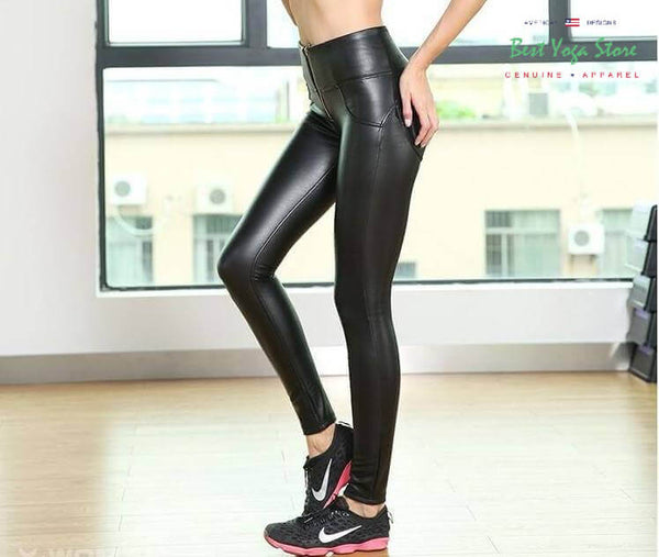 2019 High Waisted Eco-Leather With Built-in Super Hiney Trainer™ With Waist Control