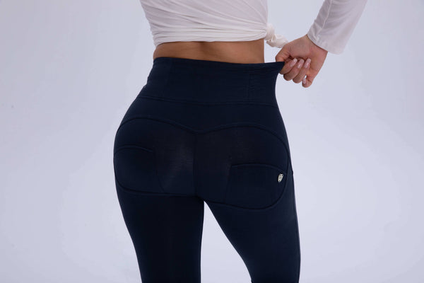 2019 Dark Blue Cotton Mid/High Waist Pants With Built-in Super Hiney Trainer X™