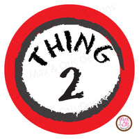 "Printable 2"" Tags & Labels - Dr. Seuss Thing 1 Thing 2"