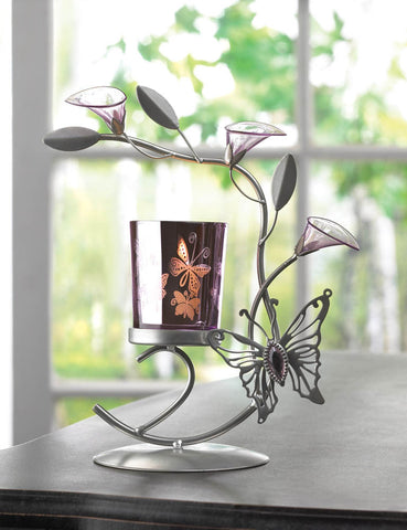 BUTTERFLY LILY CANDLEHOLDER - Distinctive Merchandise